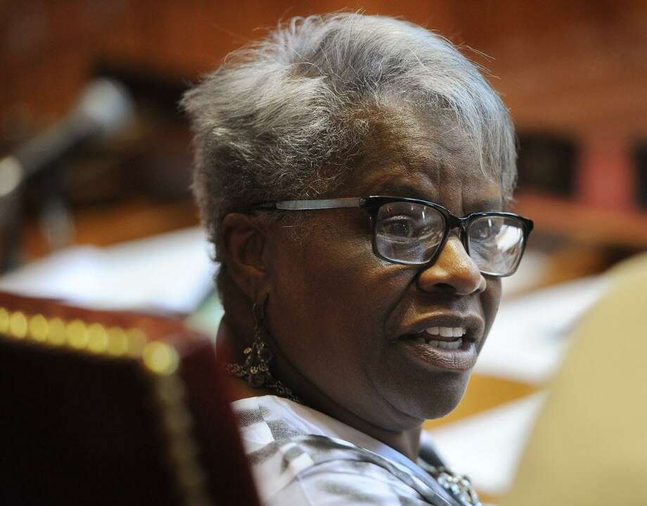 Senator Marilyn Moore, D- Bridgeport, in Senate chambers at the Capitol in Hartford, Conn. on Thursday, June 1, 2017. Photo: Brian A. Pounds / Hearst Connecticut Media / Connecticut Post