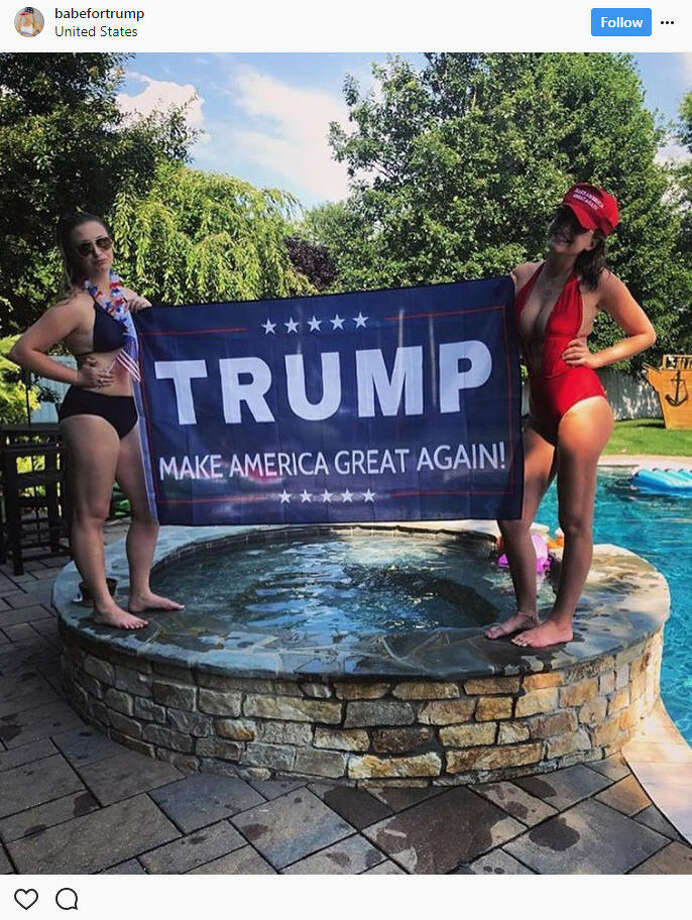 Instagram accounts@BabesForTrumpand@BabesForTrump2020continue their support of the president with summertime-inspired posts.Source: Instagram Photo: Instagram