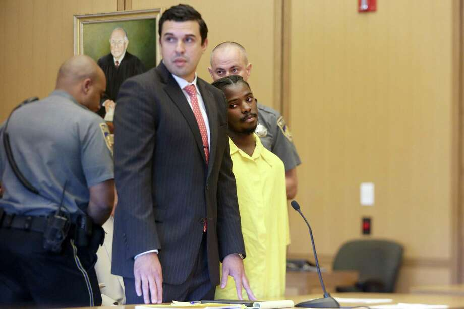 Marquest Hall, 18, gets sentenced to 20 years in prison for the stabbing death of 52-year-old Antonio Muralles outside of Stamford's downtown McDonalds in March 2015 during the setencing hearing inside Stamford Superior Court in Stamford, Conn. on Tuesday, July 18, 2017. Photo: Michael Cummo / Hearst Connecticut Media / Stamford Advocate