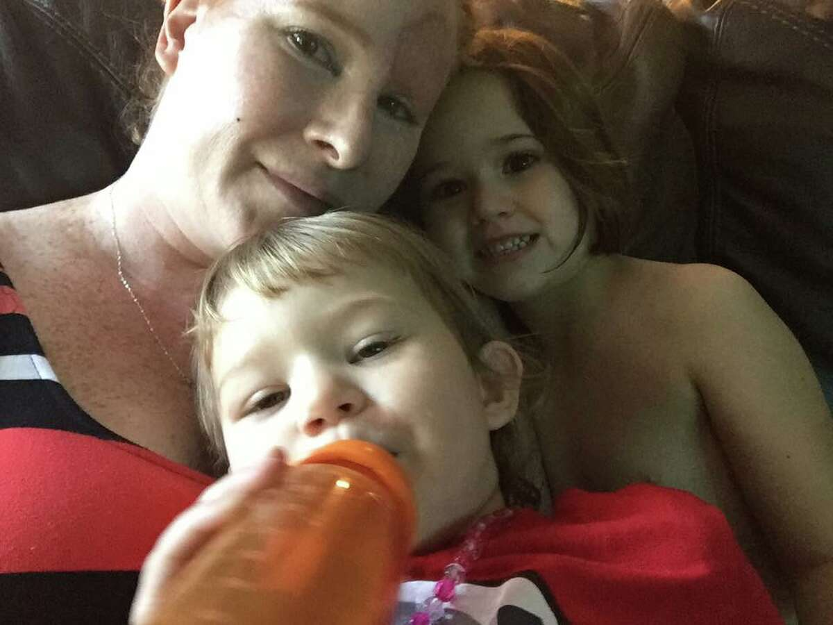 Bethany Gambardella-Greenway, 39, shows her year-long battle with an aggressive form of melanoma via Facebook.