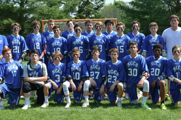 New Canaan Country School boys lacrosse finished witha perfect 7-0 record in 2017. Members of the team included (front row from left to right): Jack Johnson, Thomas Ricciardelli, Sam Ives, Finley Bean, Jeffrey Ricciardelli, Cam Lawrence, Teddy Shoenholtz, Desmond Pratt, Owen Collins, (top row left to right) Coach Khuen, Alex Byrne, Jackson Alvord, Shane Baldwin, Bo Ziegler, Henry Alpaugh, Nate Stevens, Carter George, Carter Alvord, Dylan Koo, Austin Andersen, Kevin Barnard, Hayden Critchell and Coach Furbee.