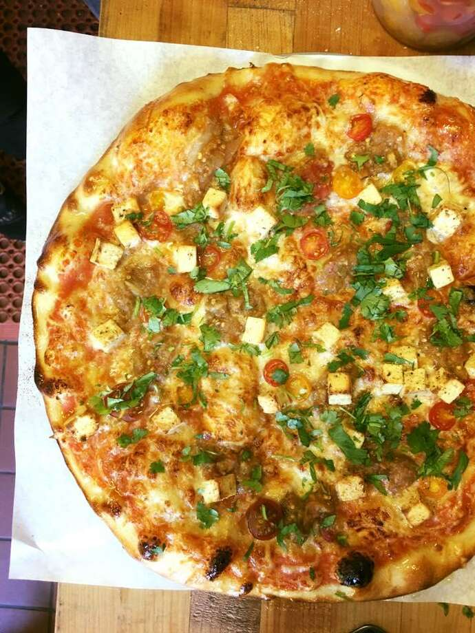 Indian pizza is now on the menu at Navi Kitchen.
