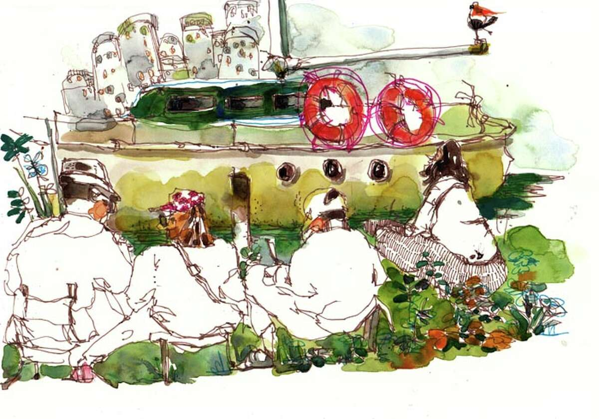 Can you guess the Bay Area location from the sketch? Drawing by visualflaneur