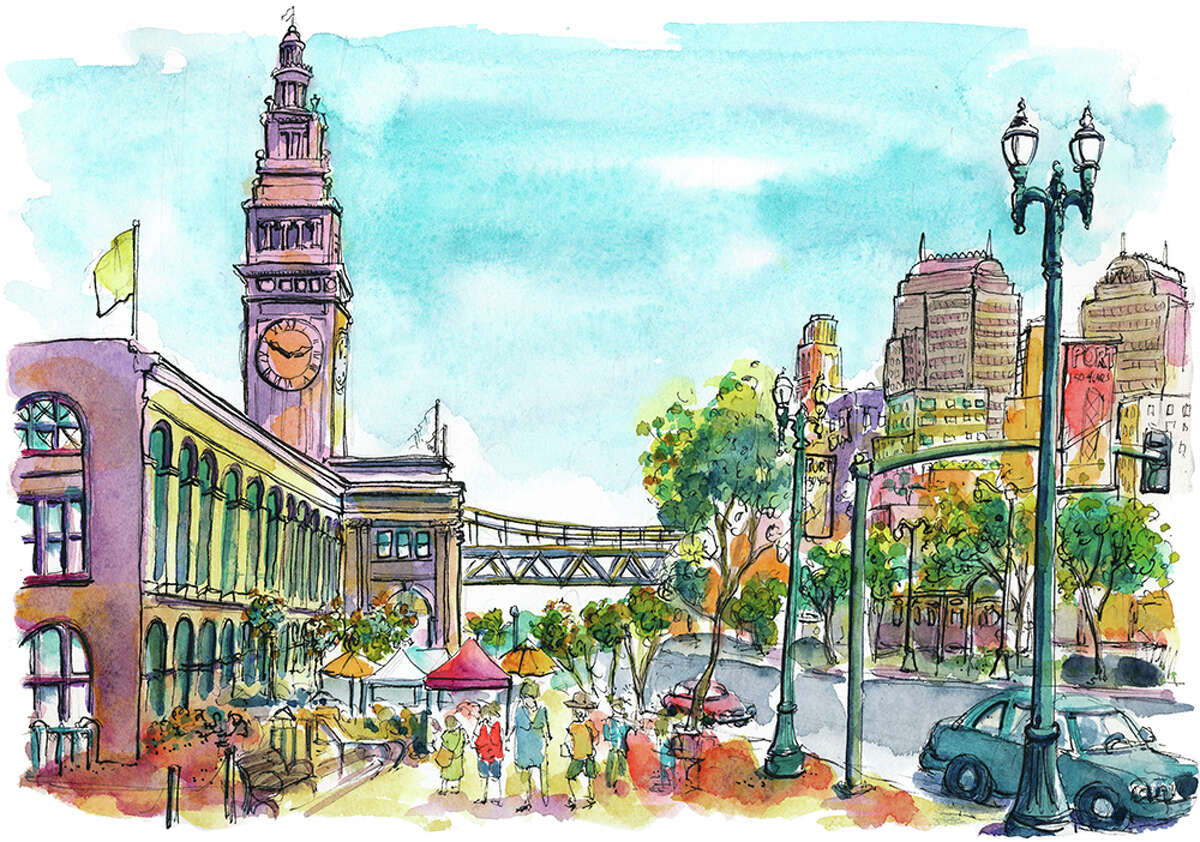 Can you guess the Bay Area location from the sketch? Drawing by Richard Sheppard