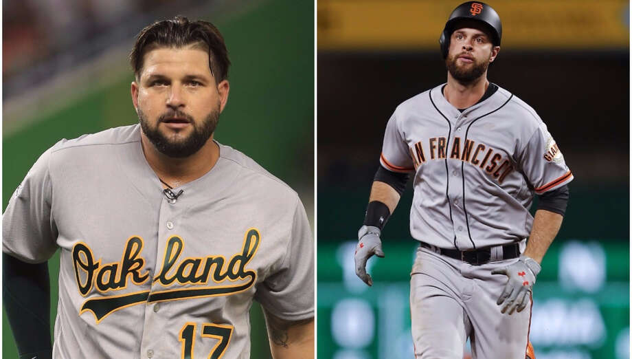The Yankees are looking for a first baseman and A's Yonder Alonso, Giants' Brandon Belt would be upgrades.