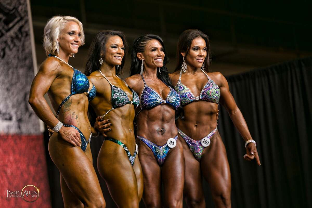 Contestants compete during the NPC Branch Warren Classic during the GASP Super Show & Expo at NRG Park on July 15, 2017.