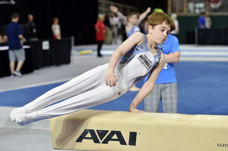 Katy ISD Seven Lakes Junior High sixth grader Rowan Dumond tied for first place earning the title of National Champion for Floor in his division at the 2017 U.S. Men's Junior Olympic National Championships. Photo: Katy ISD