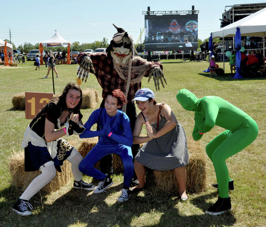 The thrill of victory awaits as straw champions from all walks of life take shape during the 2017 Olympic-themed Fulshear Scarecrow Festival, 11 a.m. to 3 p.m. Saturday, Oct. 21, in Cross Creek Ranch, 6450 Cross Creek Bend Lane. These are participants from the 2016 festival. Photo: Cross Creek Ranch