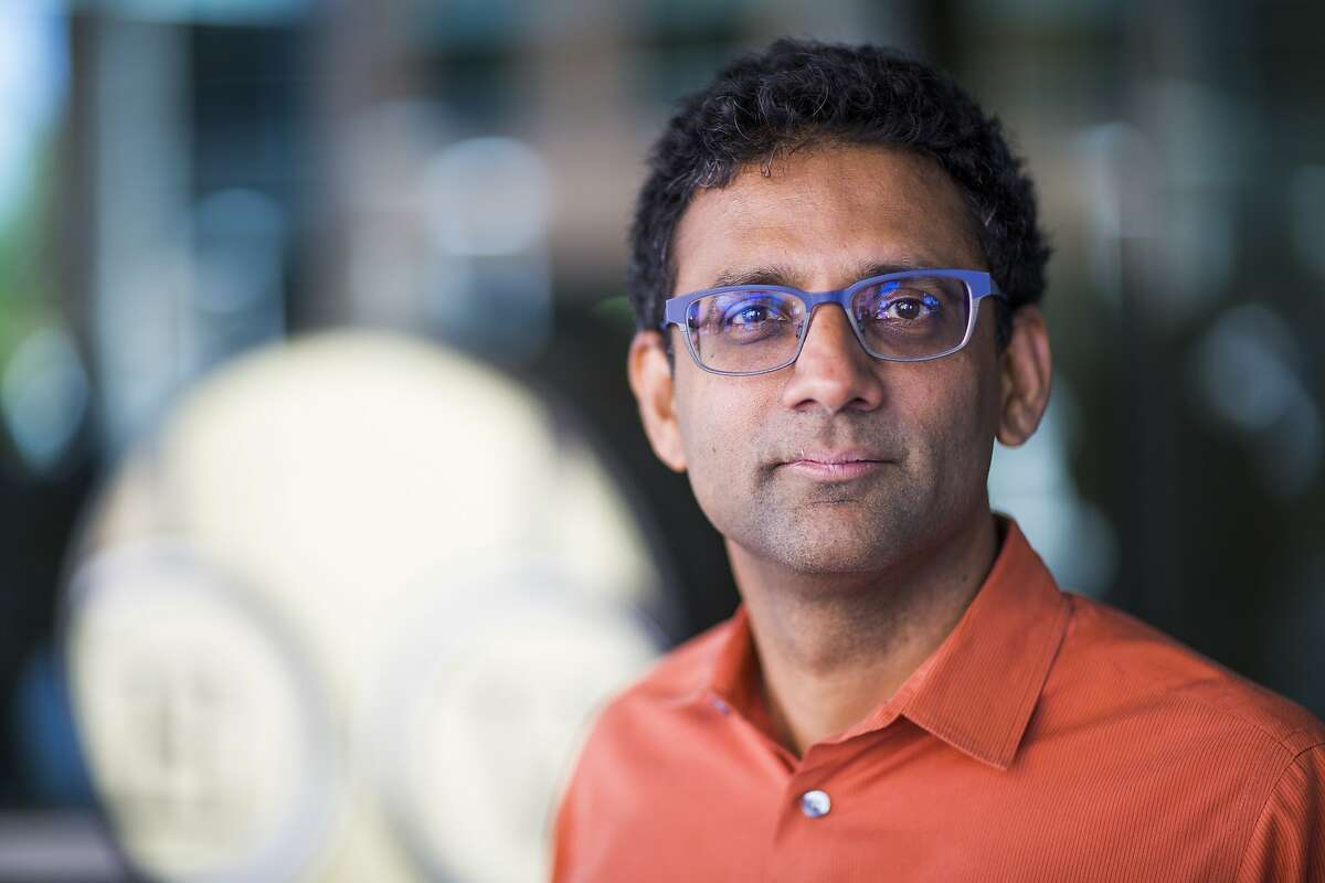 """Ben Gomes, Vice President of Search Engineering at Google, at the Googleplex campus in Mountain View. Gomes is responsible for deriving the suggestions on a search query, and the few lines of text and links users get back, which Google calls """"the snippet."""" He monitors the digital torrent of Google's 1 billion daily search queries. (Photo by Brooks Kraft LLC/Corbis via Getty Images)"""