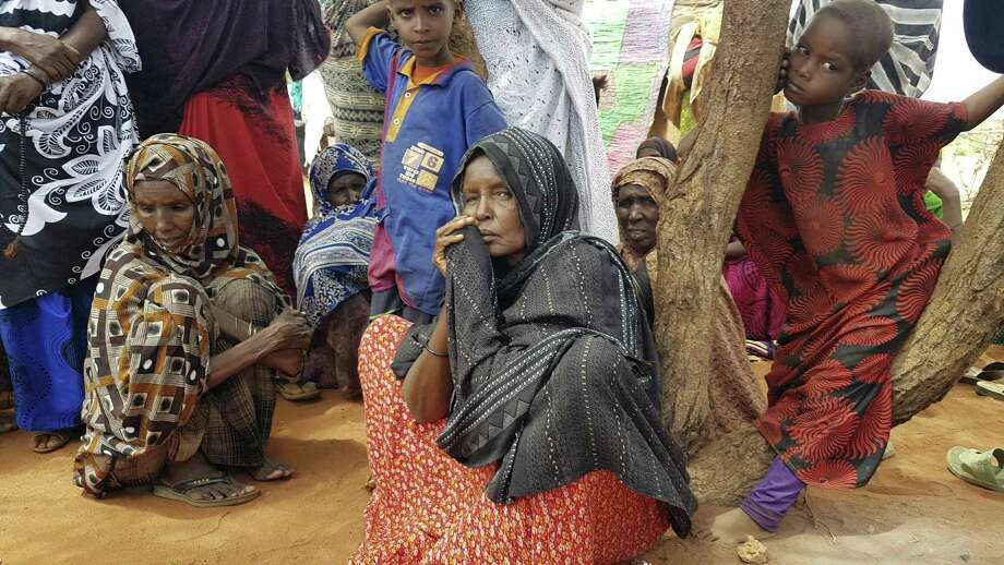 Many villagers are suffering from the ongoing drought in Ethiopia, which scientists believe is exacerbated by the effects of climate change. Photo: Elias Meseret /Associated Press / Copyright 2017 The Associated Press. All rights reserved.