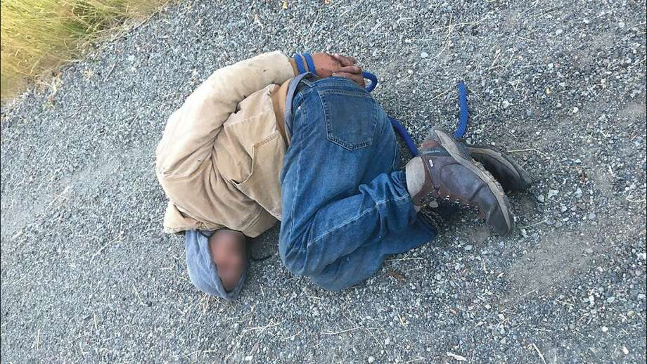 """When deputies arrived, the """"cereal burglar"""" suspect was hog-tied along the roadside. Photo: Photo From Lewis Co. Sheriff's Office"""