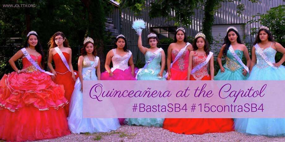 Jolt, an Austin-based organization which encourages Latinos to take civic action, will host Quinceañera at the Capitol on July 19 protesting Senate Bill 4. Photo: Courtesy, Jolt