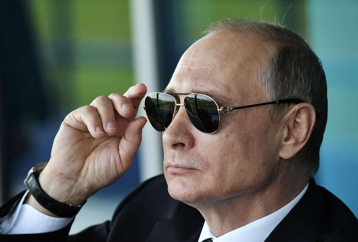 Russia's President Vladimir Putin attends the MAKS-2017 International Aviation and Space Salon in Zhukovsky, Moscow Region on July 18, 2017. (Nikolsky Alexei/TASS/Zuma Press/TNS)
