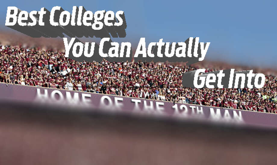 If you're a student hoping for a great education, or a stronger student in search of a safety school, these top colleges that accept at least 51 percent of applicants are worth a close look.>>Here are the '10 Best Colleges That You Can Actually Get Into'... / 2012 Getty Images
