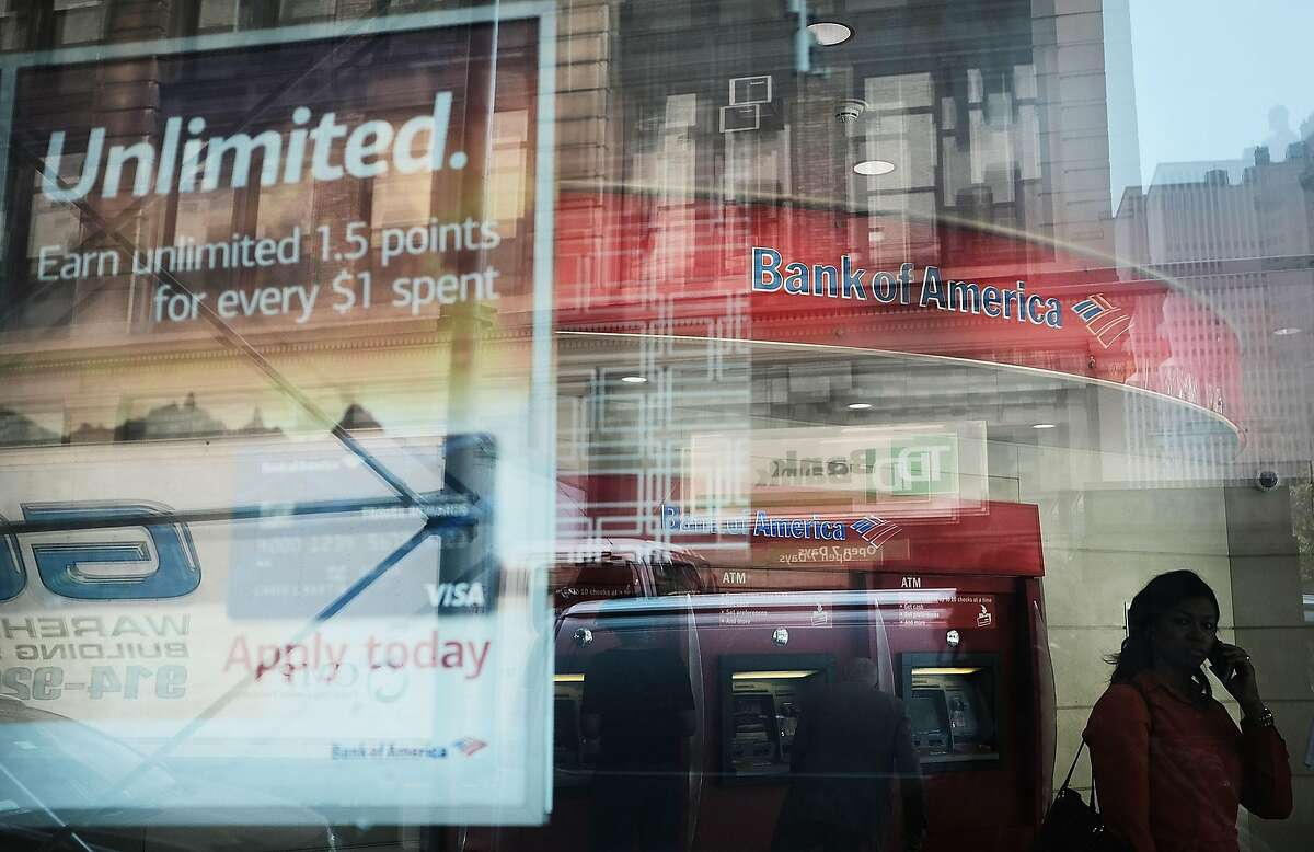 NEW YORK, NY - JULY 18: A Bank of America branch stands in lower Manhattan on July 18, 2017 in New York City. Bank of America Corp. reported a higher-than-expected quarterly profit Tuesday as cost cuts and the strength in its consumer bank started to take hold. (Photo by Spencer Platt/Getty Images)