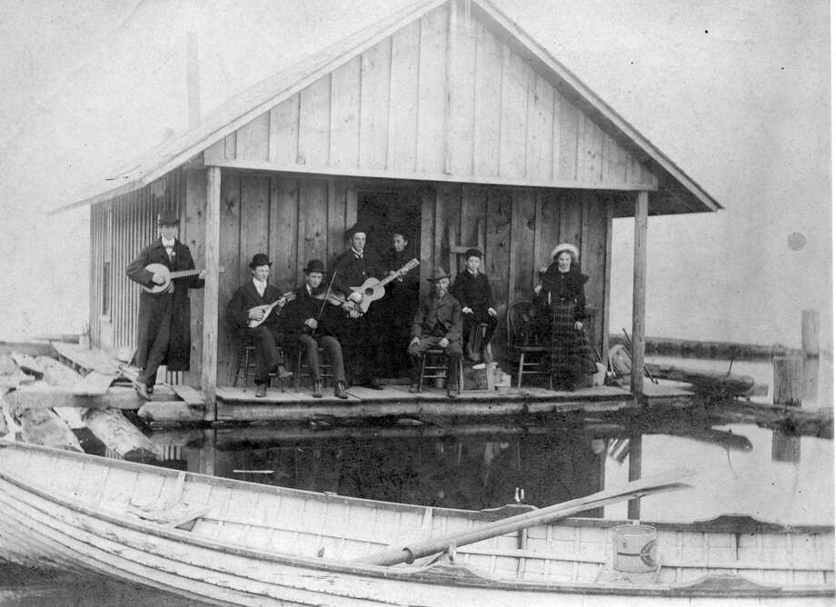 The Schahn family band is pictured in 1902 on Lake Washington off Rainier Beach in Seattle. Photo: Seattle Municipal Archive