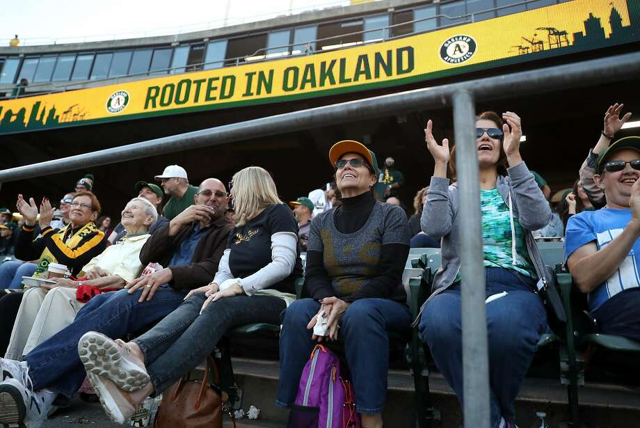 Oakland Athletics' fans at Oakland Coliseum in Oakland, Calif. on Monday, July 17, 2017. Photo: Scott Strazzante / The Chronicle
