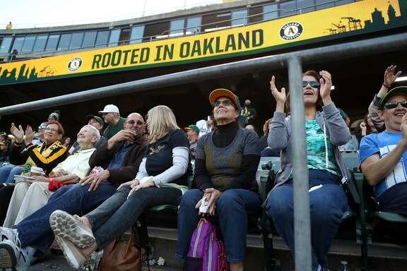 Oakland Athletics' fans at Oakland Coliseum in Oakland, Calif. on Monday, July 17, 2017.