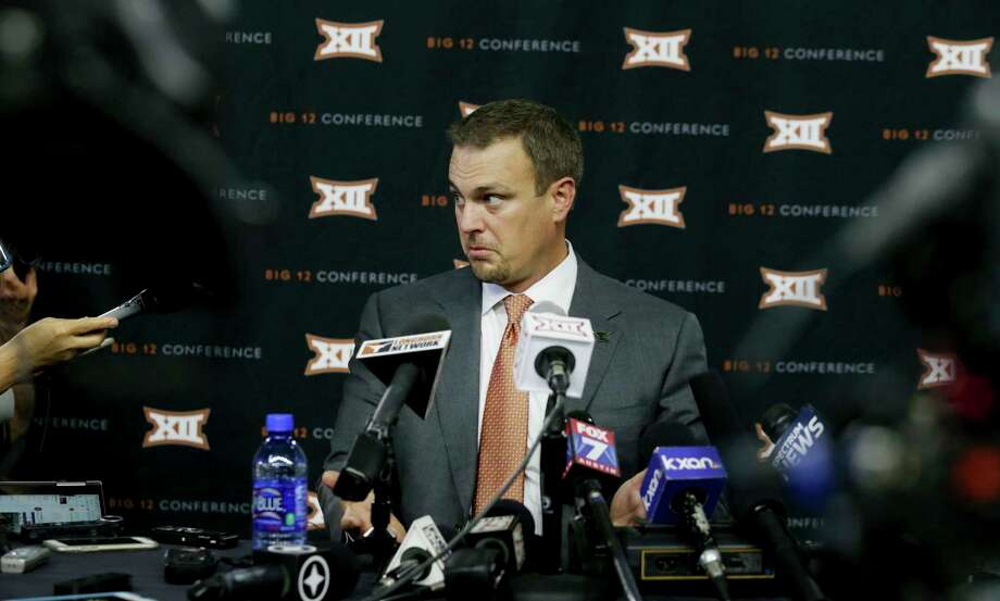 PHOTOS: Aggies-Longhorns rivalry in every team sportTexas head football coach Tom Herman listens to a reporter's question during the Big 12 NCAA college football media day in Frisco, Texas, Tuesday, July 18, 2017. (AP Photo/LM Otero)Browse through the photos to see how the Aggies-Longhorns rivalry has gone in each team sport. Photo: LM Otero, Associated Press / Copyright 2017 The Associated Press. All rights reserved.