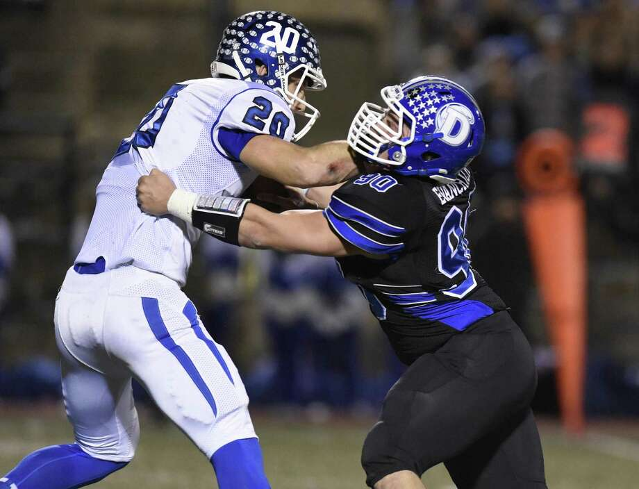 Jasen Rose (20) was a quarterback at Southington High. At UConn, he will try to earn time as a tight end. Photo: Tyler Sizemore / Hearst Connecticut Media / Greenwich Time
