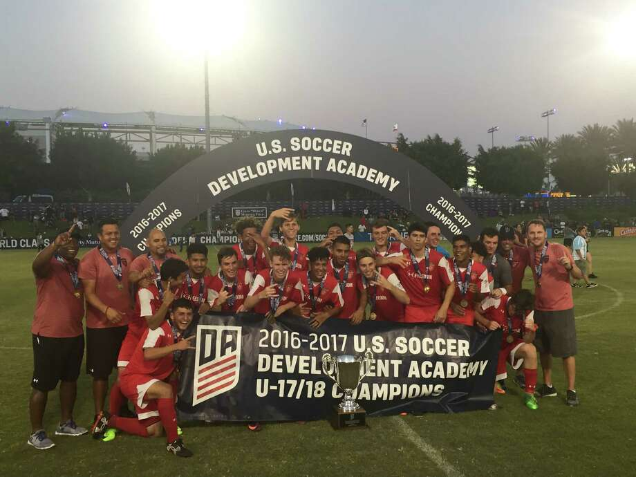 Texans SC Houston became the first Houston team to win the U.S. Soccer Development Academy U-17/18 national championship, July 16 in Carson, California. The club defeated Colorado Rapids 3-2 on penalty kicks and LA Galaxy 2-1 in the final. Photo: Submitted Photo