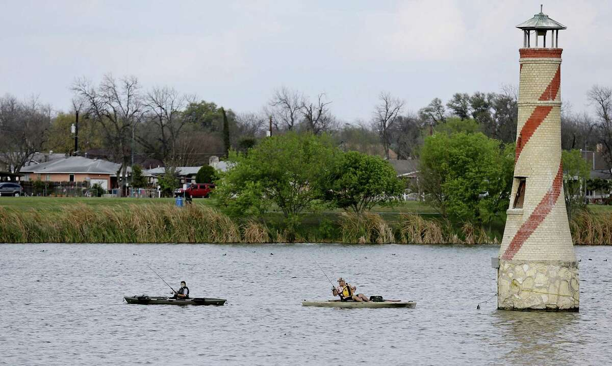 File photo of anglers at Woodlawn Lake Park. San Antonio Fire Department officials said a body was recovered from the lake Sunday afternoon, Nov. 18, 2018.