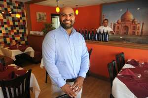 Finto Antony is co-owner of the new Taj Fairfield Indian Cuisine at 1879 Black Rock Turnpike in Fairfield, seen below.