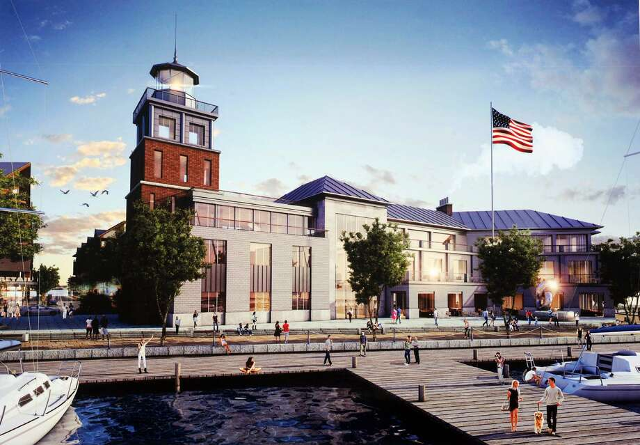 The Dockmaster's Building that will be part of the waterfront development portion of Steelpointe Harbor in Bridgeport. Photo: Conmtributed Artwork / Connecticut Post