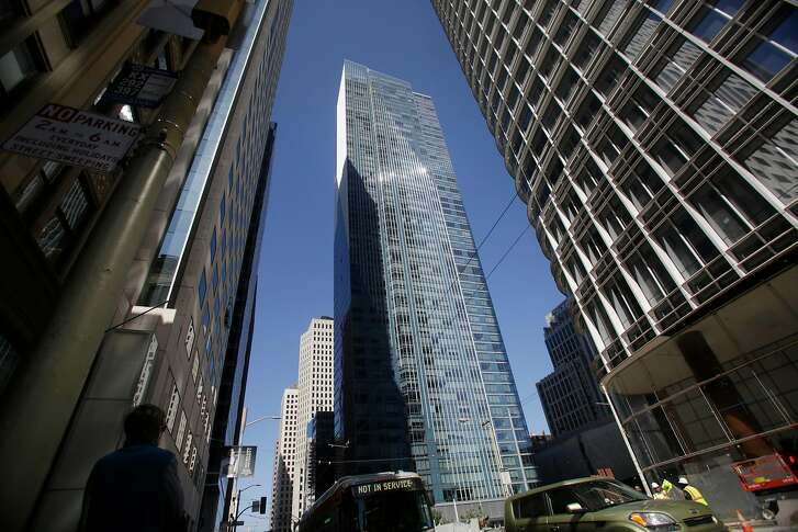 Millenium Tower is seen from Mission Street on Tuesday, July 18, 2017 in San Francisco, Calif.