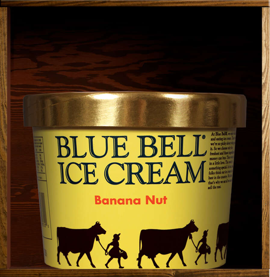 """31. Banana Nut Blue Bell description: """"Rich banana ice cream with tasty, chopped roasted almonds.""""  Editors' note: Get this bad boy some banana bread chunks. Photo: Blue Bell Ice Cream"""