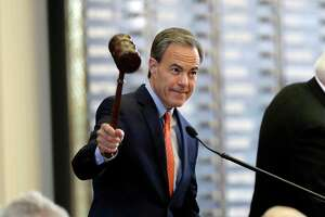 Speaker Joe Straus calls the House to order Tuesday, then adjourned about an hour later.