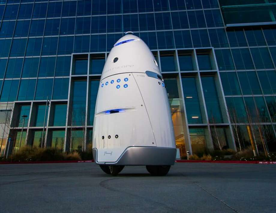 Knightscope rents out the robots for $7 an hour — less than a security guard's hourly wage. The company has over 19 clients in five US states. Photo: Knightscope