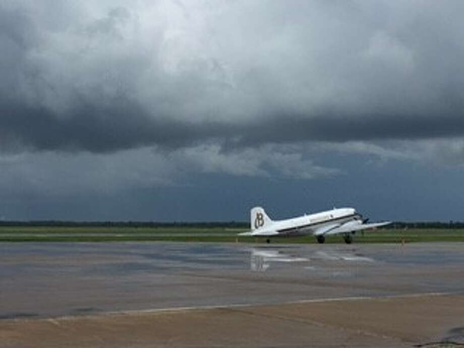 The Breitling DC-3 World Tour stopped at Ellington Field in Houston on Tuesday, July 17, 2016. The DC-3 plane, which was built in the 1940s, is the oldest to circle the globe and is carrying 500 Brietling watches - the limited edition Navitimer watch. Photo: Joy Sewing