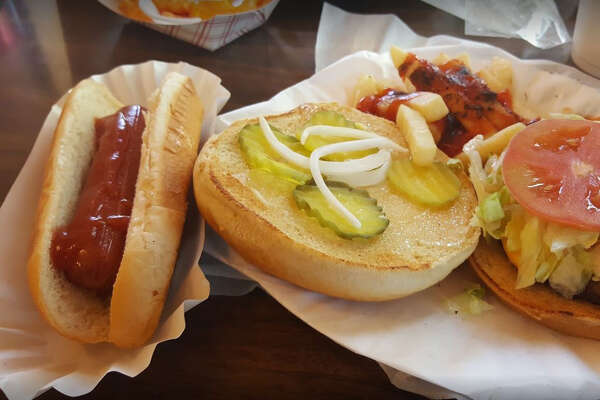 1. Hot Dog Express – 4.8 stars   1000 Hidalgo St  Rating from Google