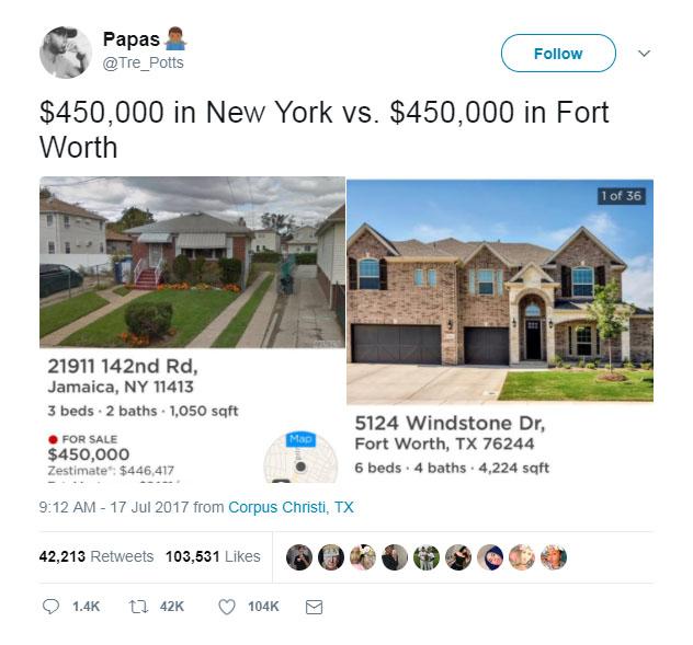 Viral Tweet Sparks Housing Battle Between The Lone Star