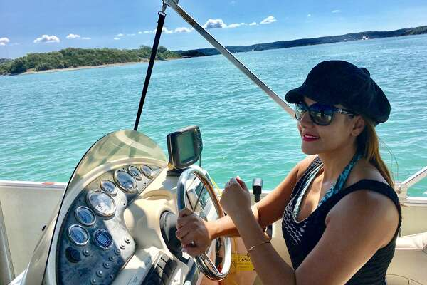 More recently, in July, KENS anchorwoman Sarah Forgany unwound closer to home, driving a boat on Medina Lake.