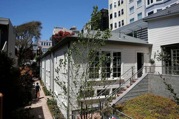 Four cottages built in1907 have been completely restored are now on the market, along the 1300 block of  Filbert St., in San Francisco, Ca., as seen on Tuesday July 18, 2017.