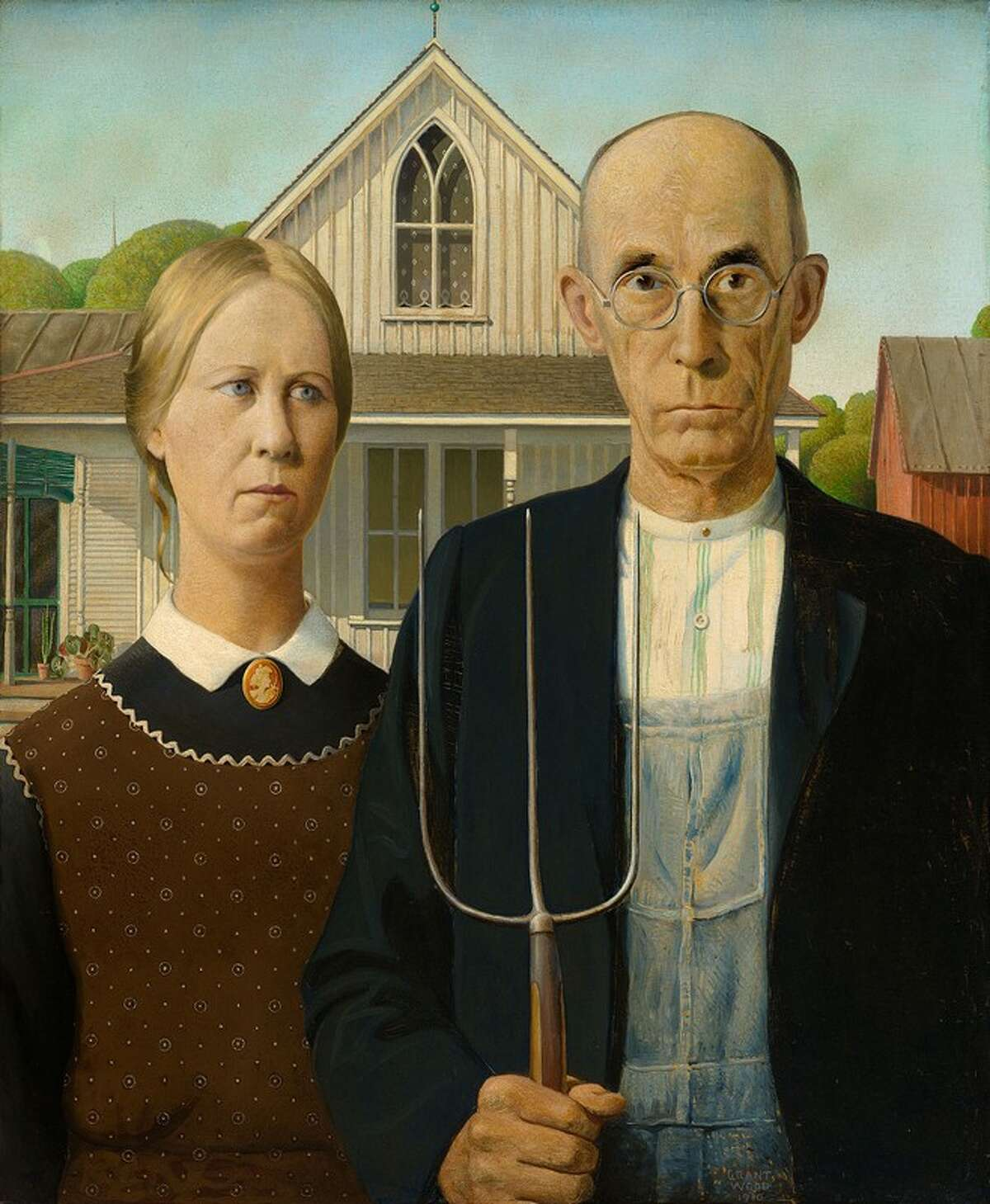 """""""American Gothic"""" by Grant Wood."""