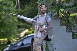 Courtesy Saratoga Shakespeare Company Tim Dugan as Bottom in Saratoga Shakespeare?s ?A Midsummer Night?s Dream.?