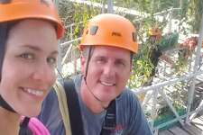 "KSAT's ""SA Live"" co-host Fiona Gorostiza and her new husband, country crooner Matt Caldwell, kicked off their mini Texas honeymoon this summer with some fun ziplining at the Lofthaven Treehouse at Cyprus Valley Canopy Tours in Spicewood."