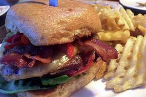 The Smoked Gouda Turkey Burger at Walk-On's Bistreaux and Bar.