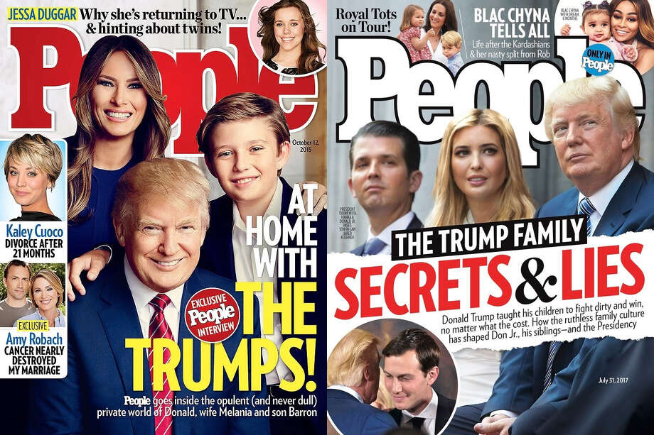 People magazine takes a hard turn on trump with secrets and lies people magazine covers featuring the trump family in october 2015 and july 2017 are very different publicscrutiny Images