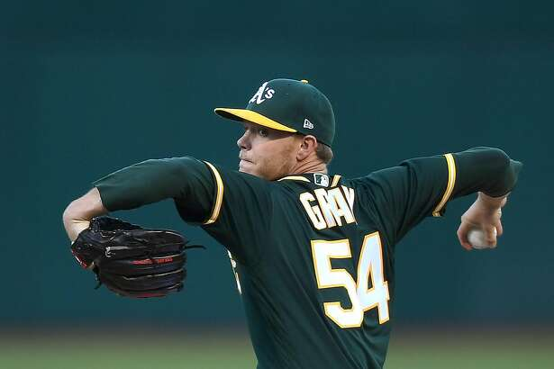 OAKLAND, CA - JULY 14:  Sonny Gray #54 of the Oakland Athletics pitches against the Cleveland Indians in the top of the first inning at Oakland Alameda Coliseum on July 14, 2017 in Oakland, California.  (Photo by Thearon W. Henderson/Getty Images)
