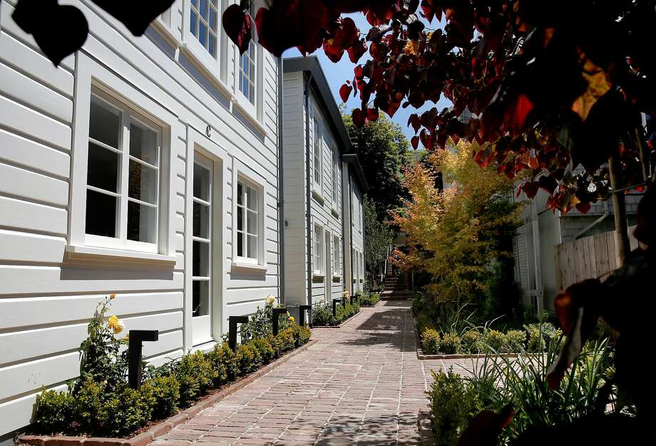 Since these Russian Hill cottages were listed in July, San Francisco home prices have continued to rise. Photo: Michael Macor, The Chronicle