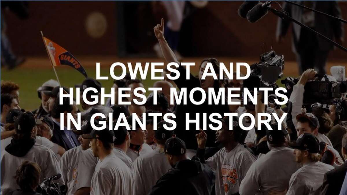 The San Francisco Giants have had storied history in the Bay Area since moving to SF in 1958. Click ahead to check out the lowest and highest moments in the franchise's history.