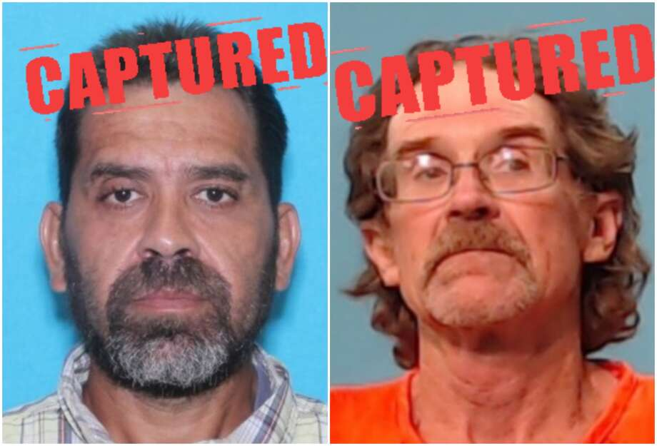 """Wanted Houston in fugitivesErasmo Zapata, 45, (left) a wanted sex offender, andBriggs Lawhon, 57, an affiliate of the Bandidos Outlaw Motorcycle Gang, were arrested the same day by Texas authorities. Both fugitives were on Texas """"Most Wanted"""" list.Click through to see fugitives on the run from Houston-area police."""
