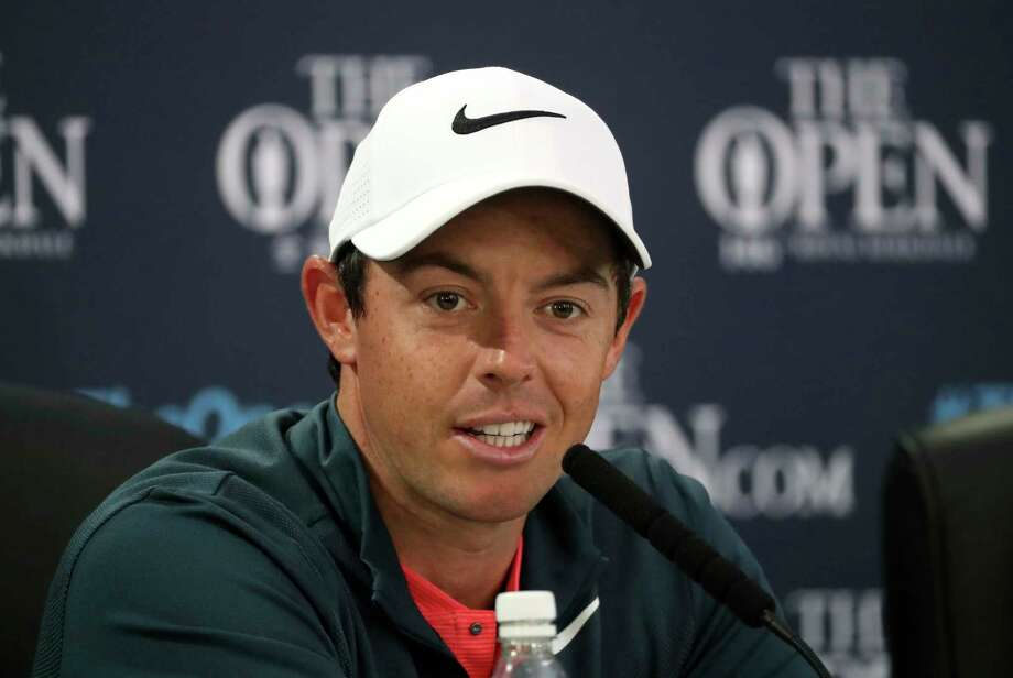 Northern Ireland's Rory McIlroy speaks during a press conference ahead of the British Open Golf Championship, at Royal Birkdale, Southport, England Wednesday, July 19, 2017. (AP Photo/Peter Morrison) Photo: Peter Morrison, STR / Copyright 2017 The Associated Press. All rights reserved.