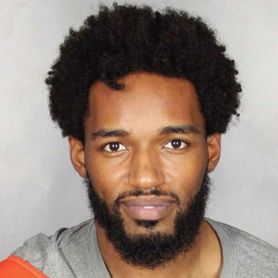 This photo provided by the McLennan County Sheriff's Office in Waco, Texas, shows Travon Blanchard, a defensive back on the Baylor football team. Blanchard was arrested Tuesday, July 18, 2017, on a misdemeanor assault charge stemming from domestic violence allegations that led to his suspension from the team five months ago. Blanchard has been released on bond. (McLennan County Sheriff's Office via AP) Photo: HOGP / McLennan County Sheriff's Office