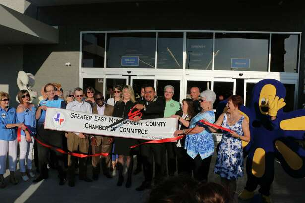 The East Montgomery County Chamber of Commerce welcomed the new Walmart Supercenter at 20310 US 59 in New Caney into the chamber at a ribbon cutting ceremony held Wednesday, July 19, the same day as the store's grand opening.