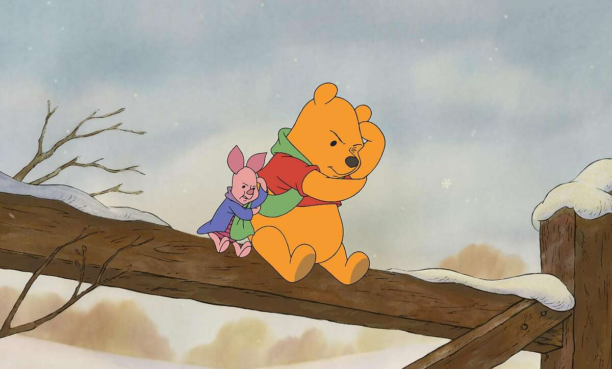 """** FILE ** Winnie the Pooh and Piglet are seen in this undated frame from Walt Disney Pictures' """"Piglet's Big Movie."""" A Los Angeles County Superior Court judge takes testimony Tuesday, Feb, 24, 2004, in a royalty dispute case involving The Walt Disney Co. and Winnie the Pooh. Disney will try to suppress evidence it says was illegally taken from a trash dumpster. The company that controls the licensing rights to the Pooh characters claims it is owed millions by Disney. (AP Photo/Walt Disney Pictures, File). HOUCHRON CAPTION (03/30/2004): Piglet, left, and Winnie the Pooh appear in a frame from """"Piglet's Big Movie"""". A judge tossed out a suit against Disney regarding royalties over the characters."""